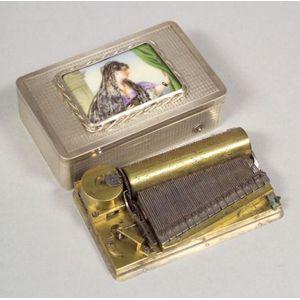 Musical Silver Snuff Box