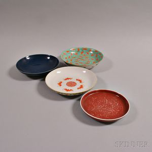 Four Porcelain Plates