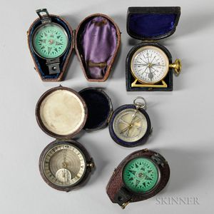 Five Cased Pocket Compasses