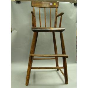 Windsor-type Birch and Pine High Chair.