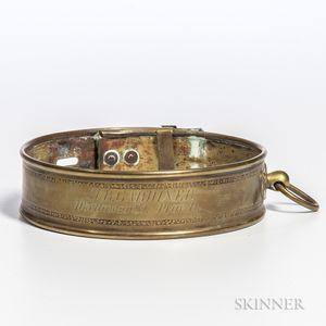 Engraved Brass Dog Collar