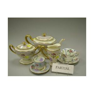 Thirty-two Pieces of English and Lenox Porcelain Tea and Demitasse Sets.