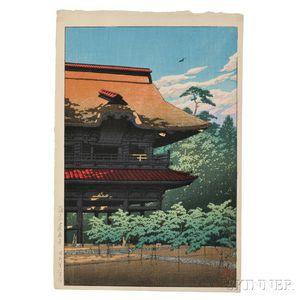 Kawase Hasui (1883-1957), Kenchoji Temple in Kamakura