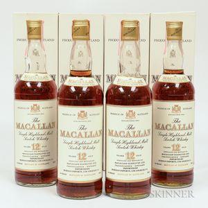 Macallan 12 Years Old, 4 750ml bottles (oc)