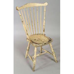 Painted Fan-back Windsor Side Chair