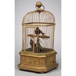 Triple Singing Bird Cage Automaton by Bontems