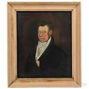 Attributed to Samuel Broadbent (Connecticut, 1759-1828)    Portrait of a Gentleman
