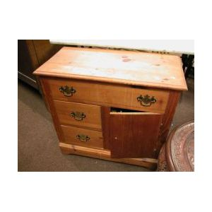 Late Victorian Pine Commode.
