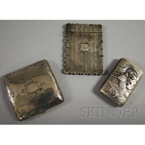 Three Assorted Sterling Silver Cases