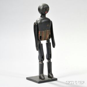 Painted-decorated Articulated Black Figure