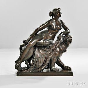 After Johann Heinrich von Dannecker (Germany, 1758-1841)       Bronze Figure of Ariadne Riding a Panther