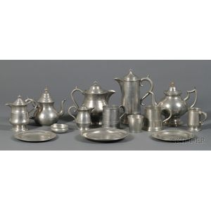 Fifteen Pieces of Pewter