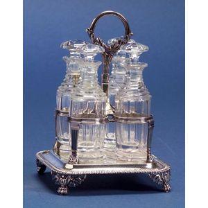 George IV Silver Four Bottle Cruet Set