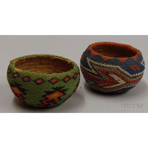 Two Paiute Beaded Baskets