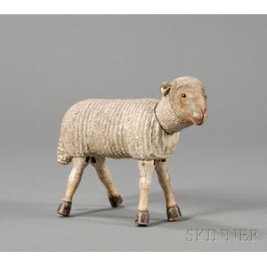 Schoenhut Painted Wooden Articulated Sheep Figure