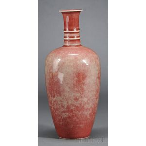 Peachbloom-Glazed Vase