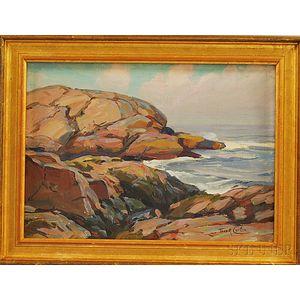 Thomas R. Curtin (American, 1899-1977)      Braces Rock, Gloucester, Massachusetts