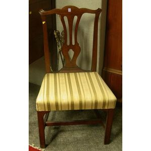 Country Chippendale Chestnut Side Chair.