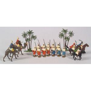 Painted Lead Arabian Figures and Scenery
