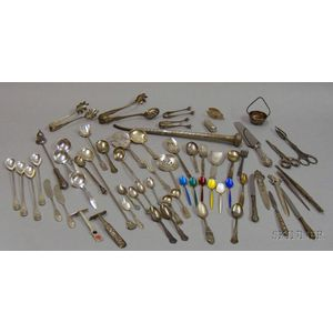 Approximately Sixty-two Pieces of Assorted Sterling