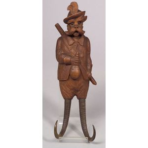 Black Forest Carved Musical Coat Hook