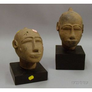 Two African Ceramic Heads