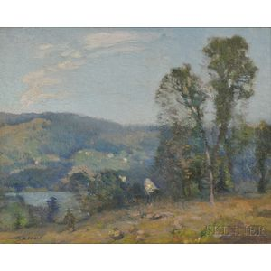 William Jurian Kaula (American, 1871-1953)      Two Vermont Landscapes: St. Johnsbury