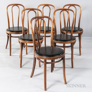 Six Thonet Bentwood Chairs
