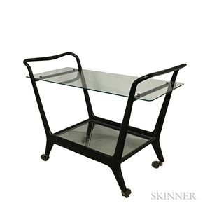 Ebonized Wood Bar Cart