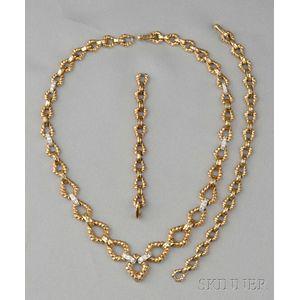 18kt Gold and Diamond Convertible Necklace/Bracelet, David Webb