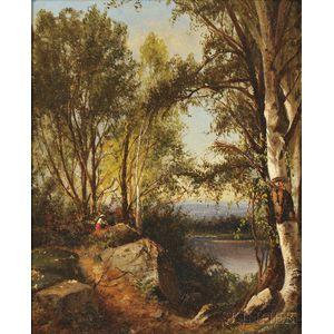 Julie Hart Beers (American, 1835-1913)      Hudson River School Landscape