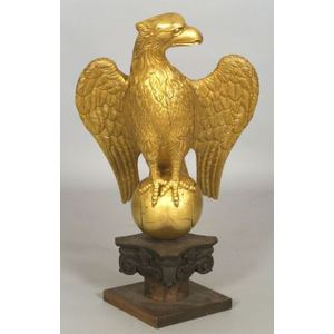Gilt-Carved Wooden Eagle Figure