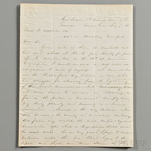 Sherman, William Tecumseh (1820-1891) Autograph Letter Signed, Moscow, Tennessee, 7 July 1862.
