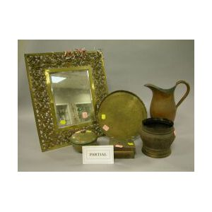 Seven Brass and Copper Decorative Items