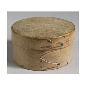 Painted Round Covered Wooden Box