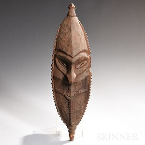 New Guinea Carved Wood Ancestor Mask