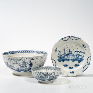Three Pearlware Table Items