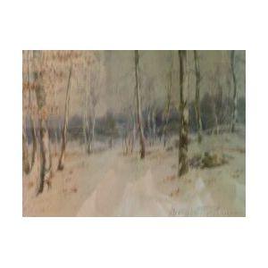 Alexander Charles Robinson (American, 1867-1940)  Birch Trees.