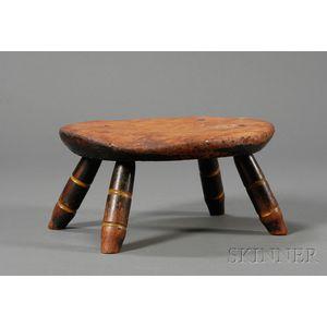 Painted Windsor Footstool