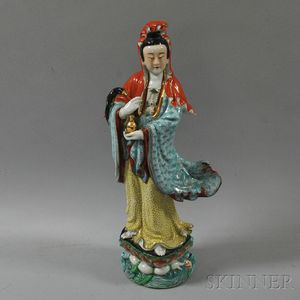 Famille Rose Figure of Guanyin
