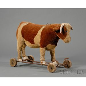 Plush Cow Pull-Toy