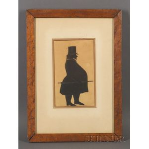 Framed Silhouette of a Portly Gentleman