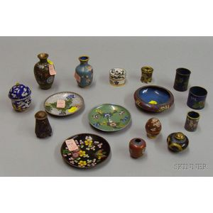Approximately Sixteen Pieces of Cloisonne