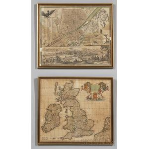 Great Britain and Florence, Two Maps.