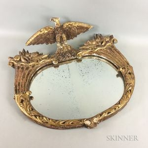 Carved Gilt-gesso Eagle Mirror