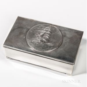 Sterling Silver Presentation Cigar Box