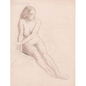 William McGregor Paxton (American, 1869-1941)      Nude Sketch
