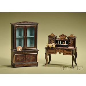 Larger Scale Waltershausen Cabinet and Lady