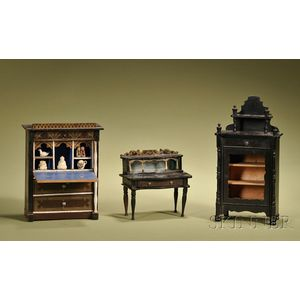 Three German Miniature Furniture Articles
