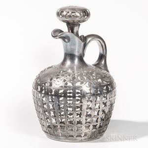 Gorham Sterling Silver-mounted Glass Decanter